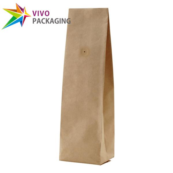 1kg Kraft Paper Side Gusset Coffee Bag with Valve