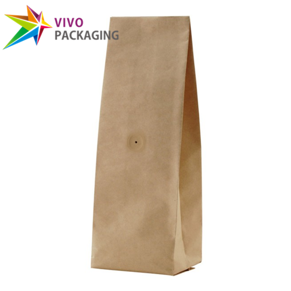 250g Kraft Paper Side Gusset Coffee Bag with Valve