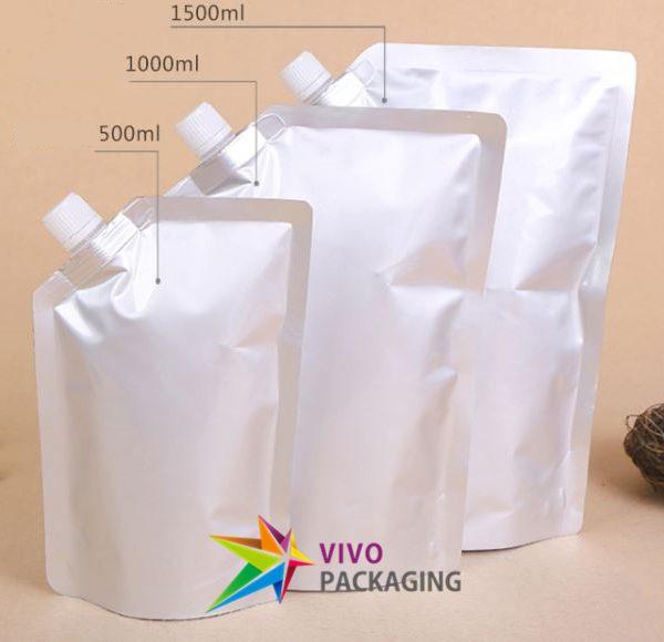 1000ml Aluminium Silver Foil Stand Up Spout Pouch