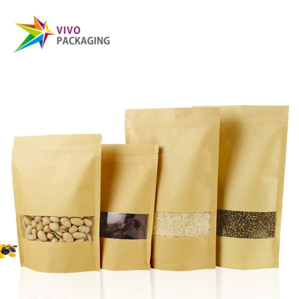 100g Kraft Paper Stand Up Pouch with Zipper