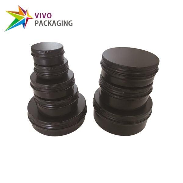 10g Matte Black Aluminium Tin and Screw Cap