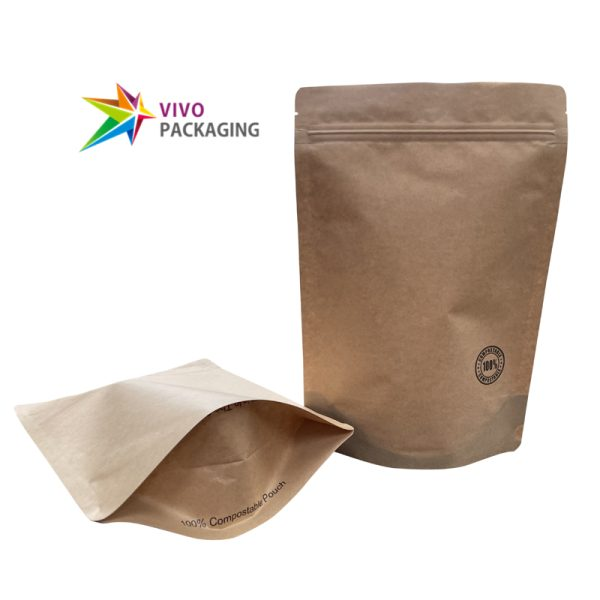 500g Biodegradable Stand Up Pouch with Zipper