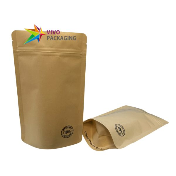 70g 100% Biodegradable Stand Up Pouch with Zipper