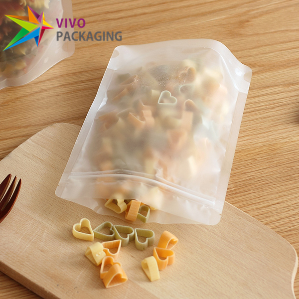 300g Frosted Clear Stand Up Pouch with Zipper