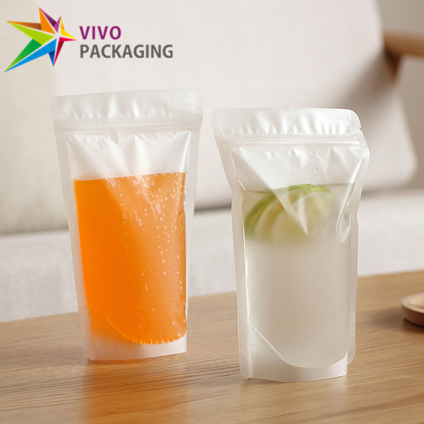 400g Frosted Clear Stand Up Pouch with Zipper