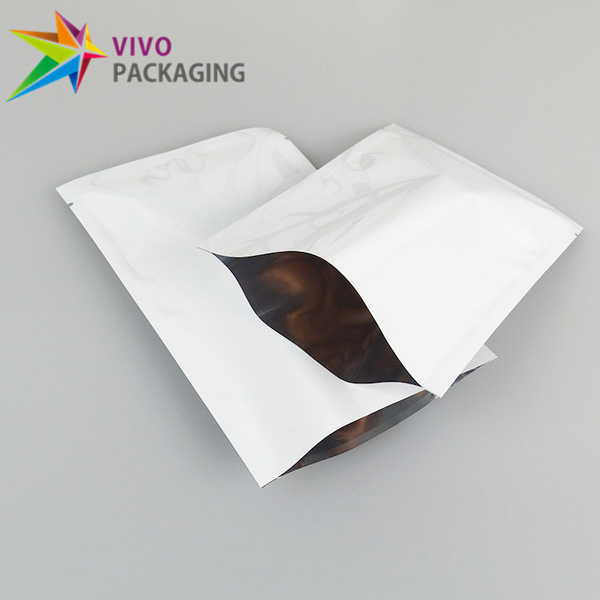 Glossy White 3 Side Seal Pouches