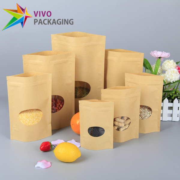1kg Kraft Paper Stand Up Pouch with Zipper