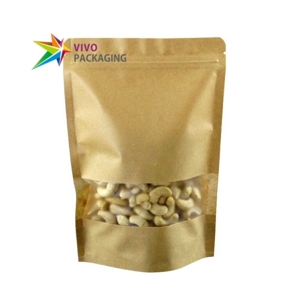 1.2kg Kraft Paper Stand Up Pouch with Zipper
